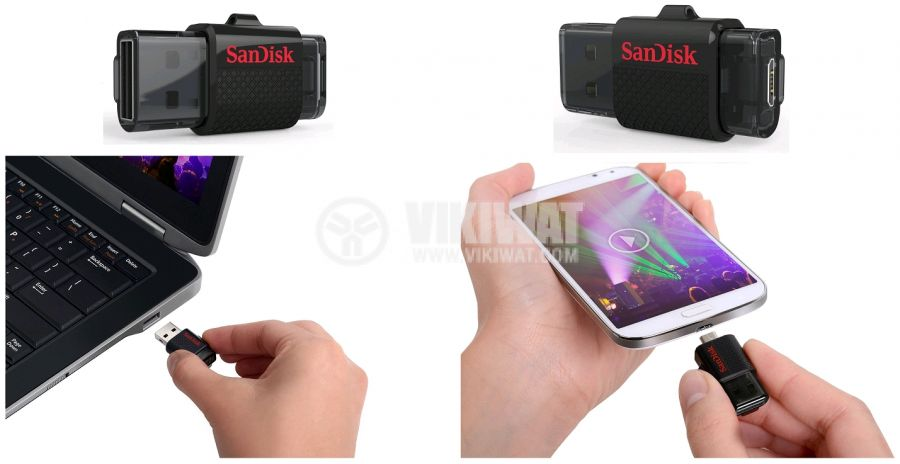 Флаш памет SanDisk, 64GB, Ultra Android Dual, USB 3.0 - 6