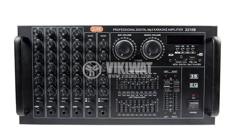 Professional Amplifier 2 x 900 W / 4 Ohm, 2 x 300 W / 8 Ohm - 2