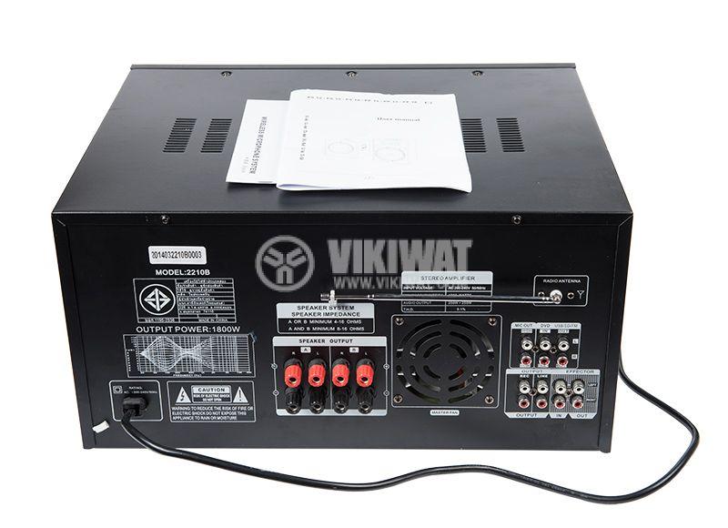 Professional Amplifier 2 x 900 W / 4 Ohm, 2 x 300 W / 8 Ohm - 5