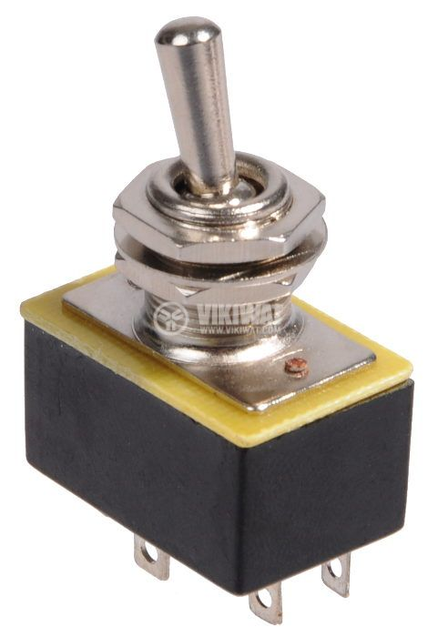 Toggle Switch PLS-202 A3, 3A, 250VAC, DPDT - 2