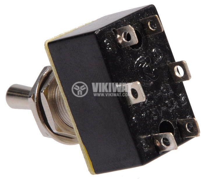 Toggle Switch PLS-202 A3, 3A, 250VAC, DPDT - 3