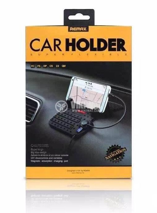 Remax RM-CS101 Super Flexible Car Holder with Charging Output for Dashboard   - 10