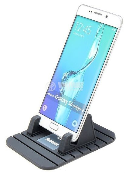 REMAX Fairy Mobile Phone Holder for Car Home Travel Office Black - 4