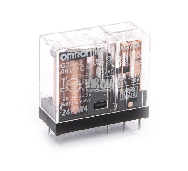 Electromagnetic relay OMRON, G2R-2, 48VC, 5A, 250VAC, 2NO+2NC DPDT - 1