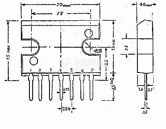 Интегрална схема uPC1181 операционен усилвател
