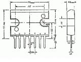 Операционен усилвател SIP7, +/-13.2V, uPC1181