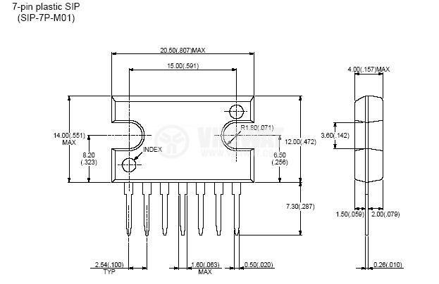 Интегрална схема uPC1182 операционен усилвател