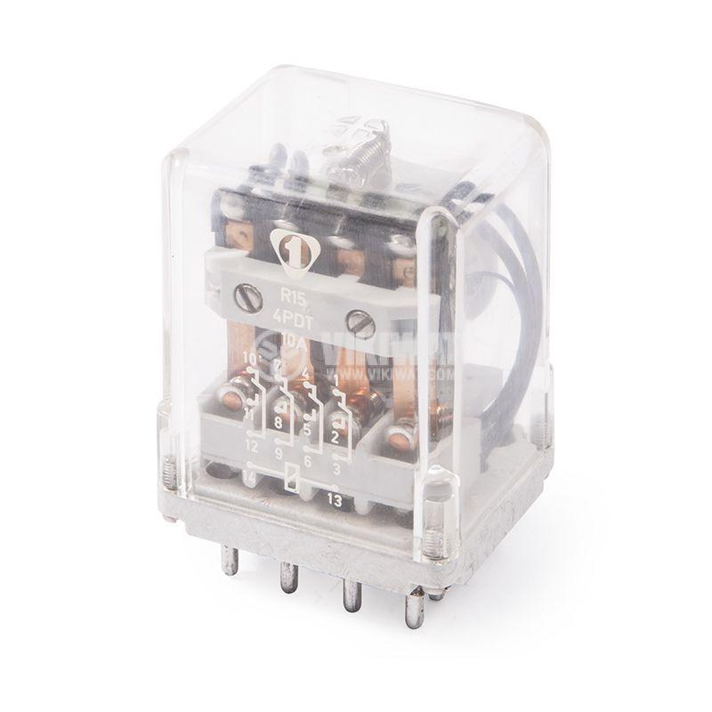 Електромагнитно реле R15, 220VDC, 4NO+4NC, 10A - 1