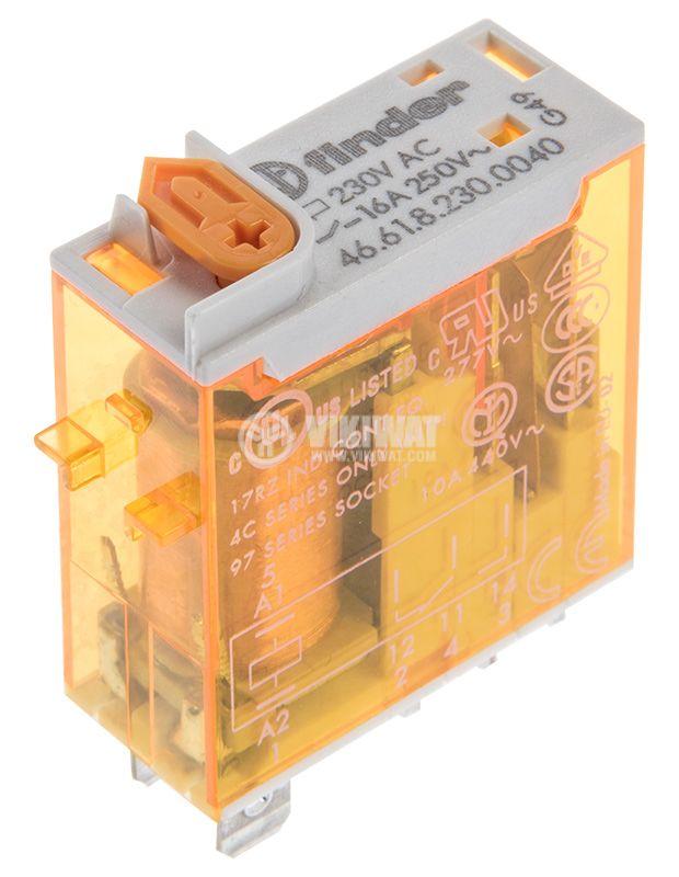 Electromagnetic relay 46.61.8.230.0040, 30VDC, 230VAC, 16A, SPDT - 2