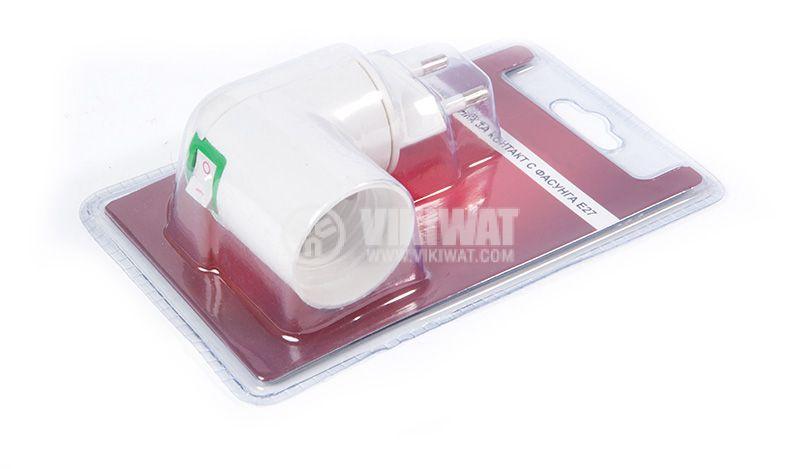 Schuko plug adapter to E27 socket - 1