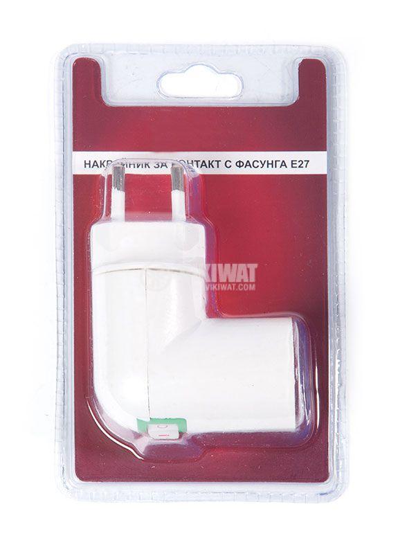 Schuko plug adapter to E27 socket - 2