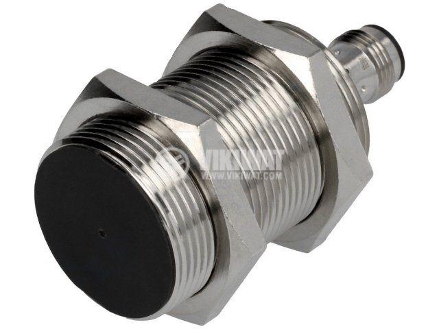 Proximity Switch E2B-M30KS10-M1-B1, connector M12, 10-30VDC, PNP, NO, M30x64mm, range 10mm, shielded