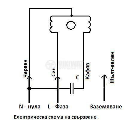 "Вентилатор, промишлен OBR 140M-2K, 230VAC, 225W, 1100m3/h, тип ""охлюв"" с изнесена турбина - 4"