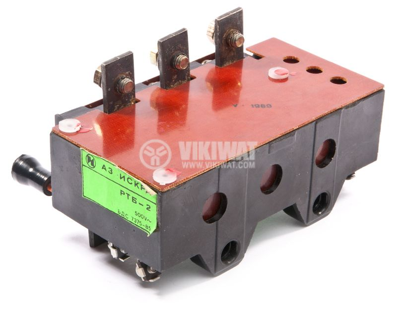 Thermal protection relay, RTB-2, TRI-PHASE, 45-63A, 2PST - NO + NC, 10A, 380VAC - 2