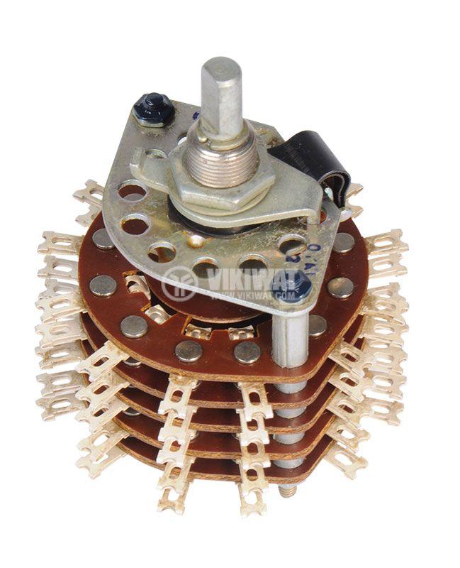 Ротационен превключвател (галета) - 5 секции, 10 позиции, 60 пина,1 контактна група - 1