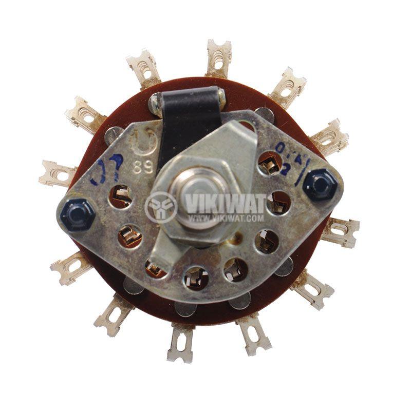 Ротационен превключвател (галета) - 5 секции, 10 позиции, 60 пина,1 контактна група - 3