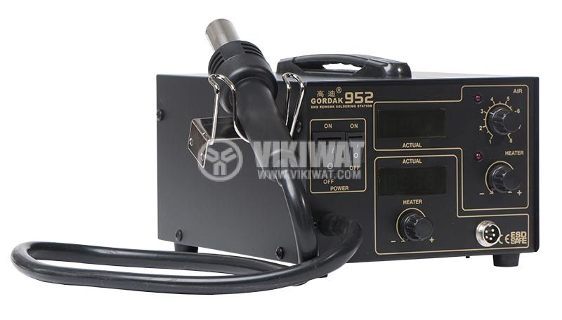 Hot air soldering station 952 with soldering iron 2 LED display - 2