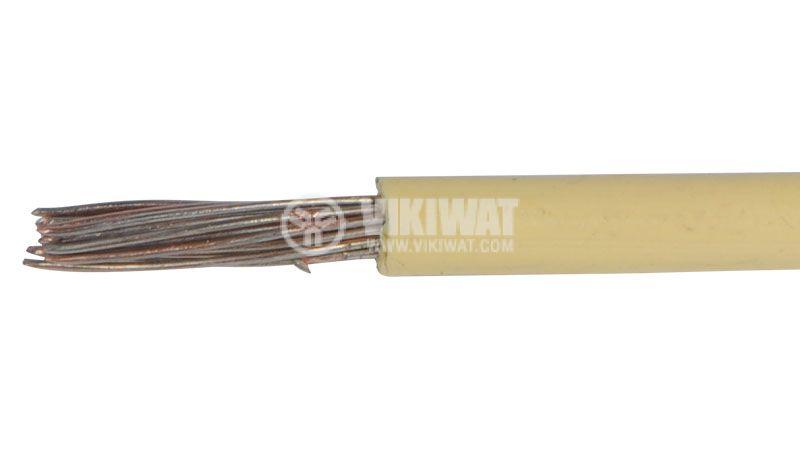 Проводник ПМВГ, 1х2.5mm2, меден, калайдисан, жълт