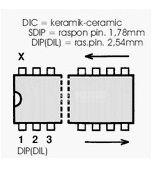 µPC1263 интегрална схема; аудио усилвател; DIP14