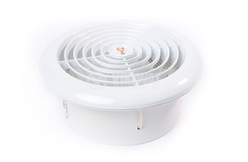 Fan MM120, ф120mm, 230 VAC, 18 W, 150 m3/h (88.29 Cfm)  - 2