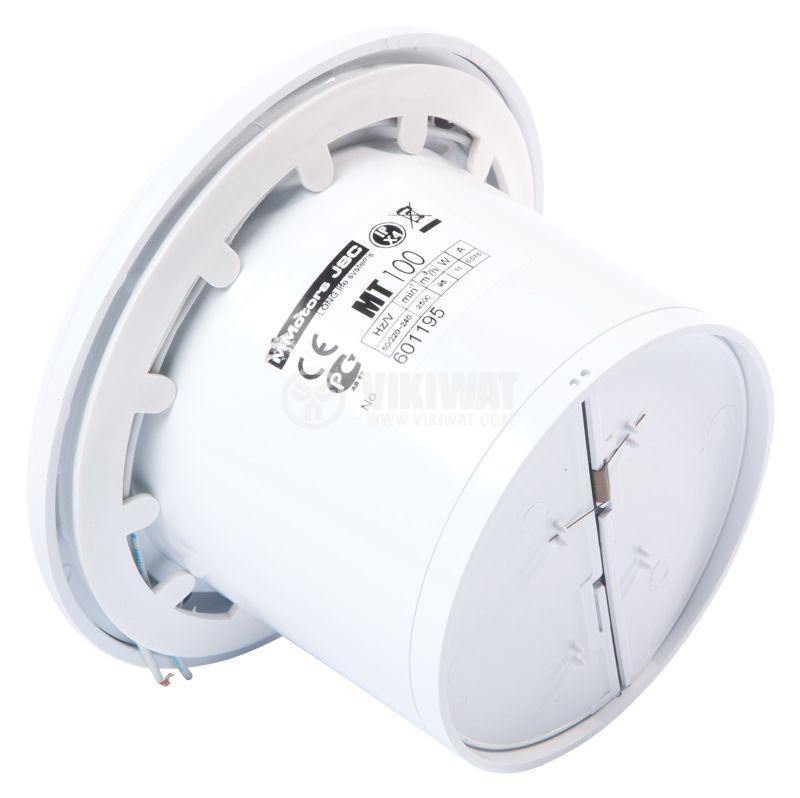 Вентилатор битов MT100, ф100 mm, 230 VAC, 11 W, 95 m3/h с клапа - 3