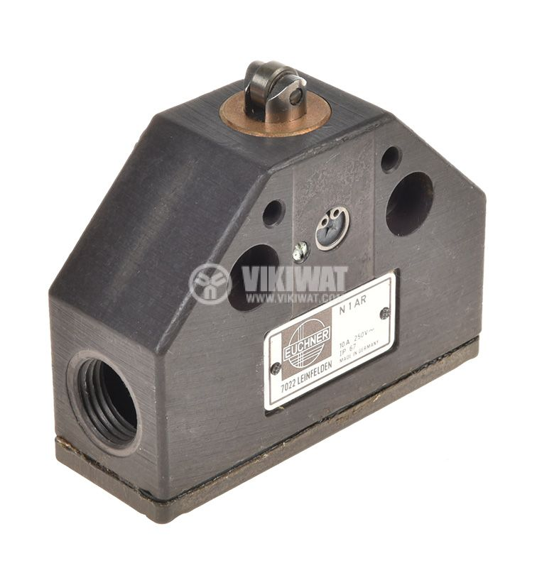 Limit switch, N-1-AR, SPDT-NO+NC, 10A/250VAC, pusher with roll - 1