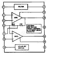Интегрална схема uPC1318 усилвател - 2