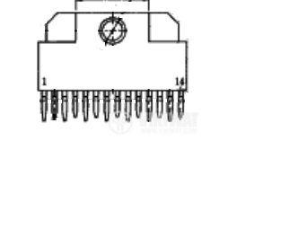 Интегрална схема uPC1335 аудио усилвател  - 2