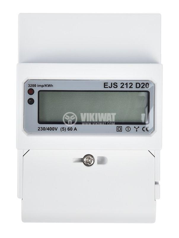 Електромер за DIN шина, EJS 212 D20, еднофазен, директен - 1