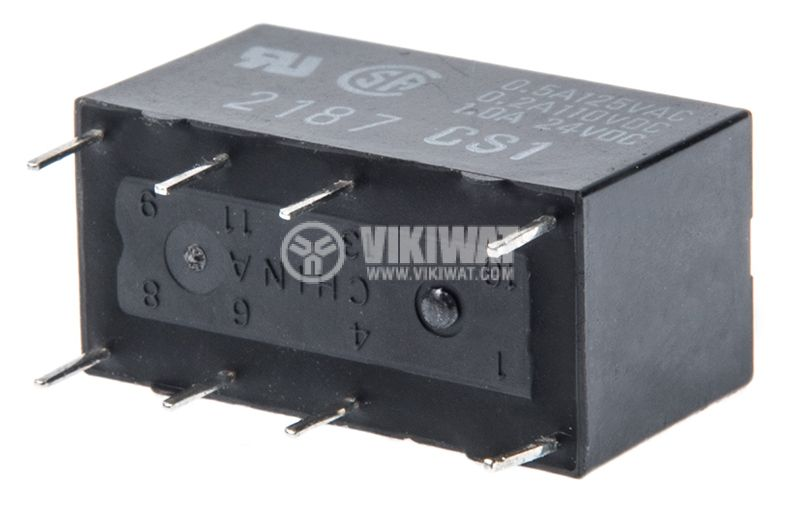 Electromagnetic relay G5V-2-H1, with coil 12VDC, 125VAC / 0.5A, DPDT - 2