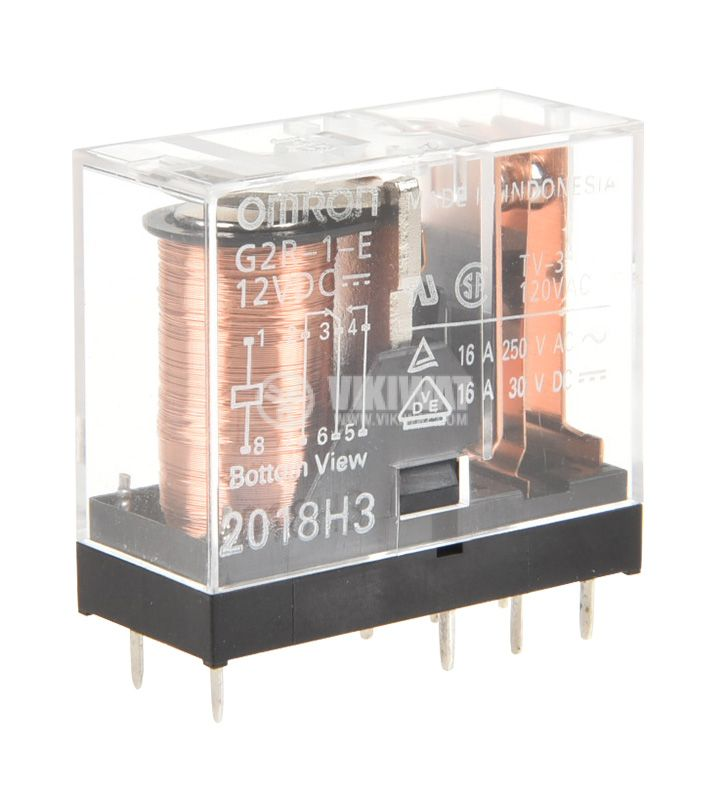 Electromagnetic  relay G2R-1-E, coil 12VDC, 16A / 250VAC, SPDT 1NO + 1NC - 1