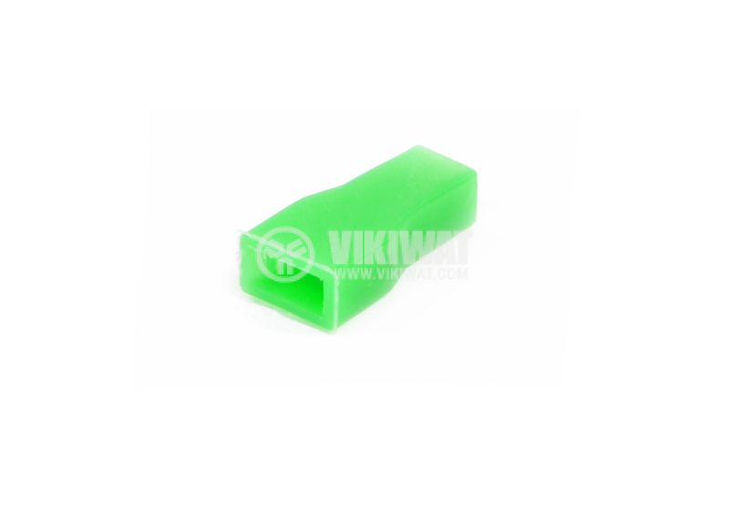 Muff for contact nozzle, 6.3 x 0.8 mm, green