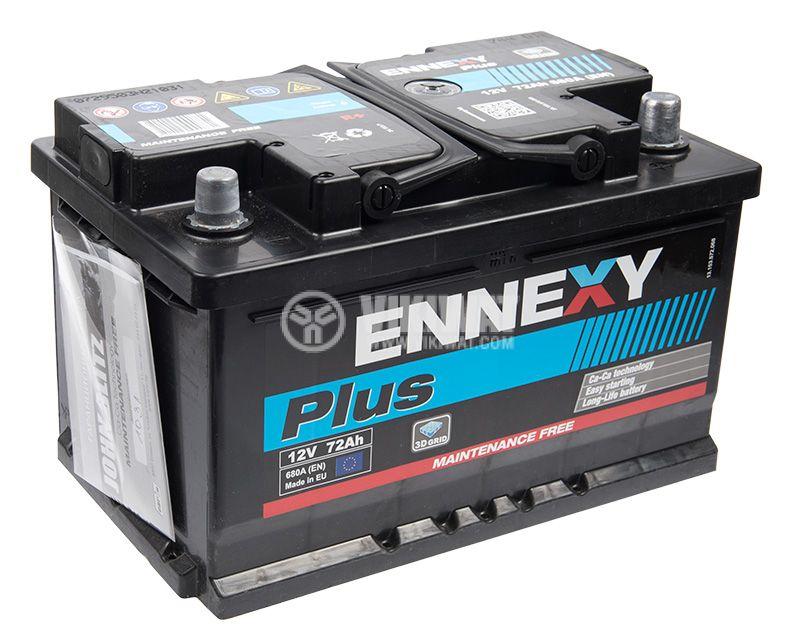 Car battery, 72Ah, starter, 12VDC, right +, ENNEXY Plus - 4
