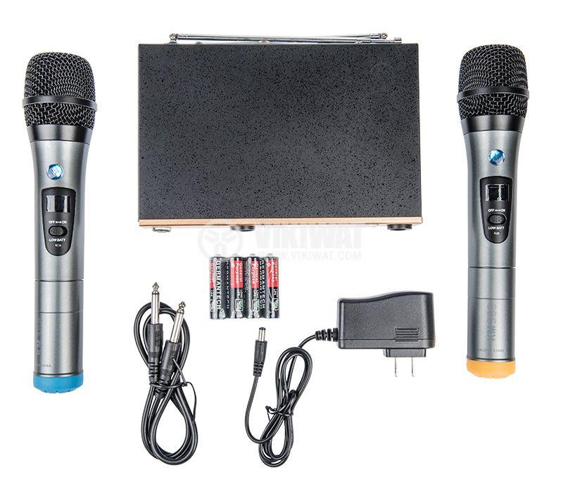 Професионални безжични микрофони и приемник KM388 - 1