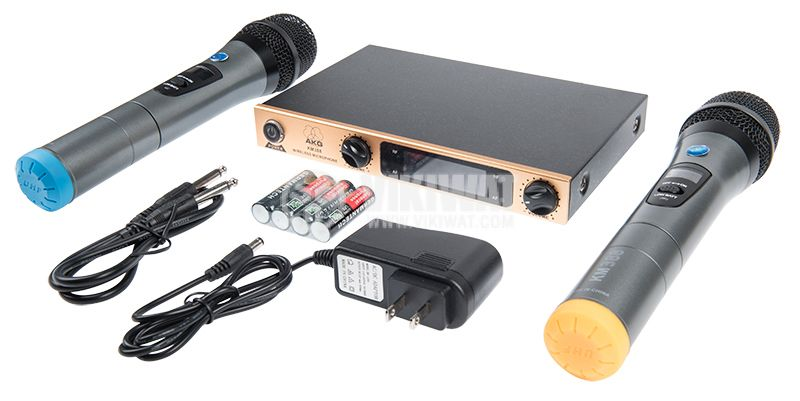 Професионални безжични микрофони и приемник KM388 - 2