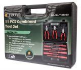 Tool set T 22303, 7 screwdrivers, 3 pliers, phase tester
