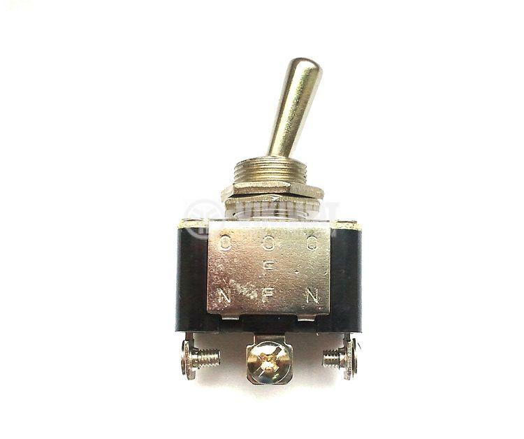 ЦК ключ KN3A-103, 10 A, 250 VAC, ON-OFF-ON, SPDT, за панелен монтаж - 1