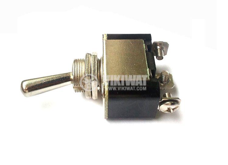 ЦК ключ KN3A-103, 10 A, 250 VAC, ON-OFF-ON, SPDT, за панелен монтаж - 3