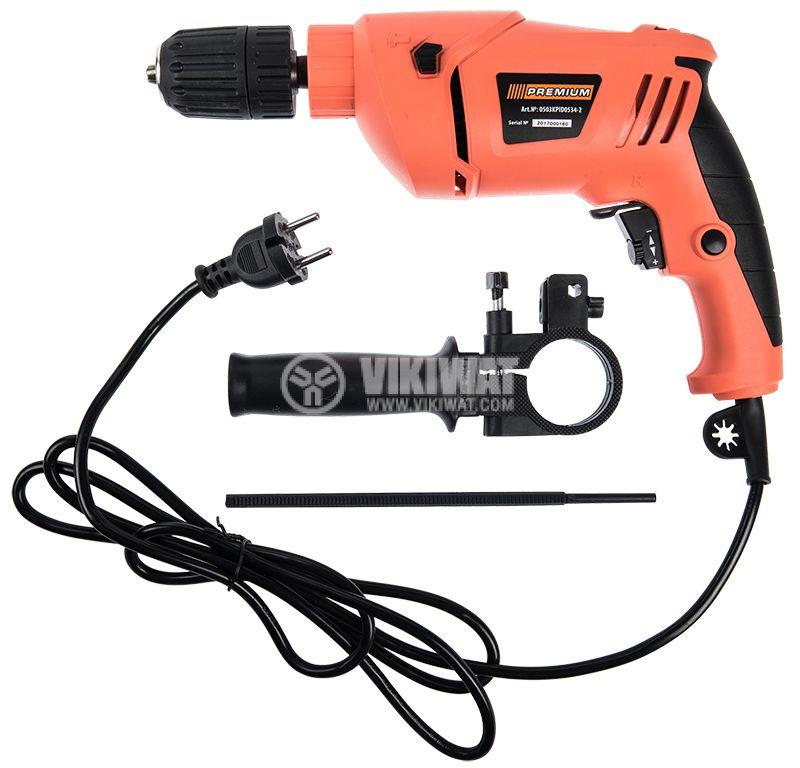 Impact drill 0503KPID0534-2, 650W, 0-3000RPM, 230VAC - 2