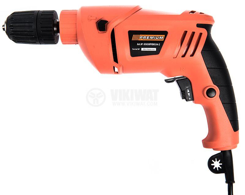 Impact drill 0503KPID0534-2, 650W, 0-3000RPM, 230VAC - 1