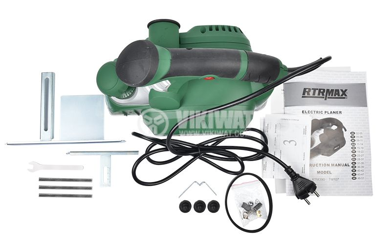 Electric wood planer RTM390, 950W, 16000rpm - 6