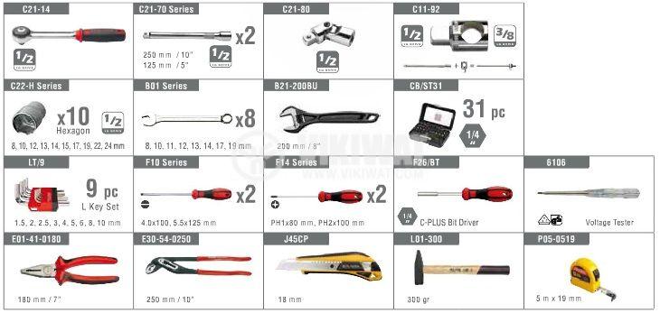 75 Piese tools set - metric - 4