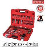 "85 Piese 1/4"" + 1/2"" Hexagon Socket Set - Metric"