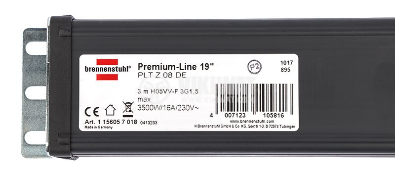8-way power strip, Brennenstuhl, Premium-Line, for 19'' rack system - 3