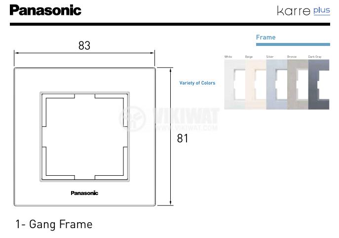 Single frame, Karre Plus. Panasonic, 81x83mm, bronze, WKTF0801-2BR - 3
