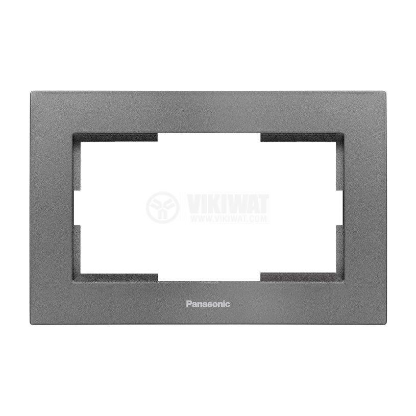 2-gang socket frame, Panasonic, dark gray, WKTF0809-2DG