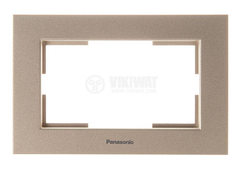 Рамка, Karre Plus, Panasonic, за двоен контакт, бронз, WKTF0809-2BR - 1