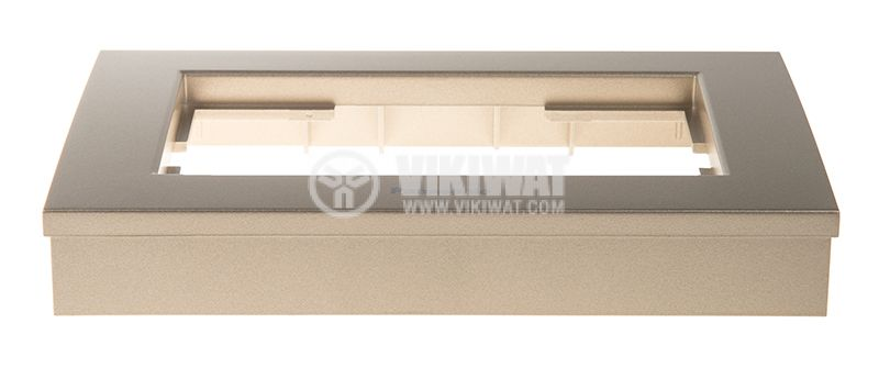 Рамка, Karre Plus, Panasonic, за двоен контакт, бронз, WKTF0809-2BR - 2