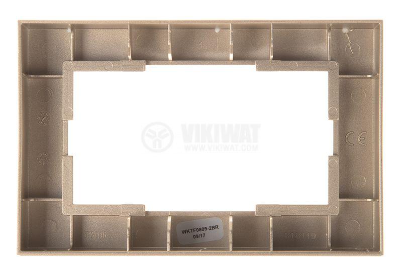 Рамка, Karre Plus, Panasonic, за двоен контакт, бронз, WKTF0809-2BR - 3