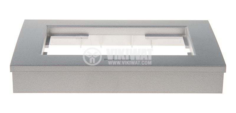 2-gang socket frame, Panasonic, silver, WKTF0809-2SL - 2